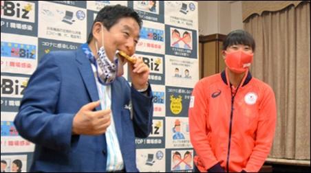 河村たかし、名古屋市長、後藤投手、金メダル、噛んだ