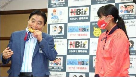 河村たかし、名古屋市長、金メダル